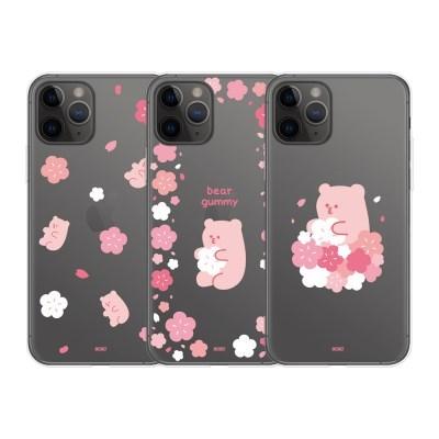 9C9C 베어구미 벚꽃 클리어케이스_갤럭시시리즈