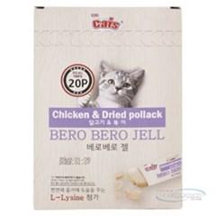 더캣츠 베로베로 젤20P(닭고기&북어)_(777013)