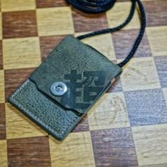 ID & 카드 목걸이 (커버형 V2 - 올리브)