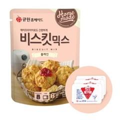 큐원 비스킷 믹스 플레인 + 오뚜기 딸기잼 세트_(2053797)