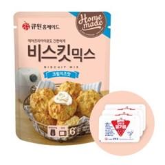 큐원 비스킷 믹스 크림치즈맛 + 오뚜기 딸기잼 세트_(2053798)