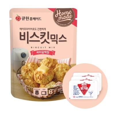 큐원 비스킷 믹스 버터갈릭 맛 + 오뚜기 딸기잼 세트_(2053799)
