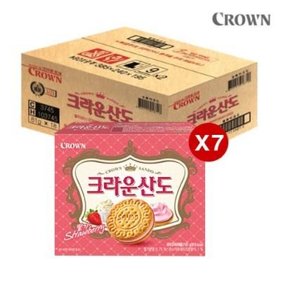 크라운 산도 딸기 81g X 7 + 과자증정/ 12시까지 당일발송