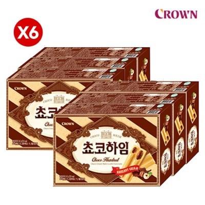 크라운 초코하임 47g X 6 +과자증정/12시까지 당일발송