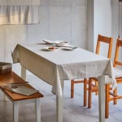 [모던하우스] L NEW ORGANIC COTTON 베이지체크 테이블