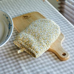[모던하우스] L 여리여리한 잔꽃 주방장갑 노랑