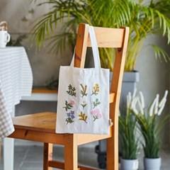 [모던하우스] L 린넨 봄꽃자수 손가방
