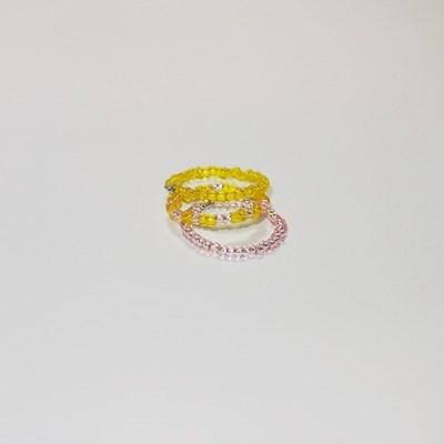 yellow_pink_r 옐로우핑크 비즈반지