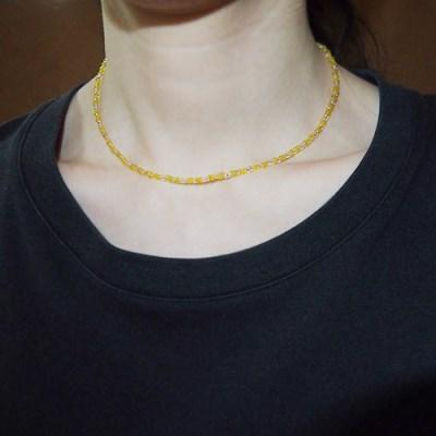 yellow_pink_neck 옐로우핑크 비즈목걸이