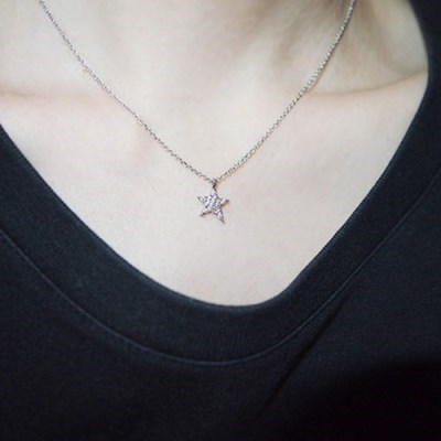 star_silver_neck 트윙클스타 체인목걸이