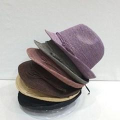 리본 챙넓은 기본 꾸안꾸 패션 라피아햇 페도라 모자