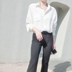 새틴블라우스 루즈핏 샤틴 여성셔츠 남방