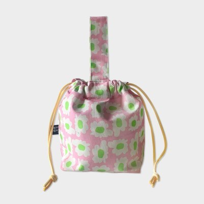bloom pink string bag
