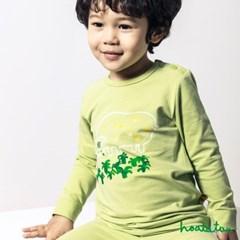 호아따따 하양소 피톤치드 무형광 9부슬림 유아실내복
