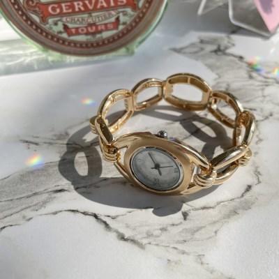 밴딩 빈티지 여성 팔찌 패션 시계