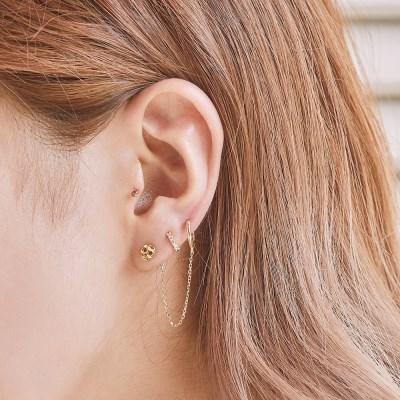 14K 커비 스컬 귀걸이 & 피어싱 (한쪽)