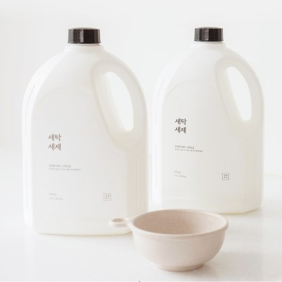 상상공간 온가족 안심 액체 세탁세제 순한성분 드럼세탁