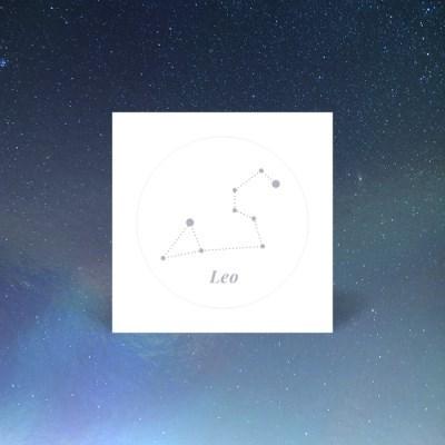 나만의 홀로그램 별자리 사자자리