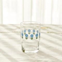 [모던하우스] L 빈티지 블루플라워 유리컵 블루 245ml