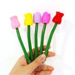 레트로 꽃 봉오리 볼펜