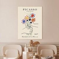 파블로 피카소 꽃 드로잉 명화 인테리어 액자 빈티지 아트포스터