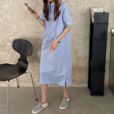 여자 봄 여름 꾸안꾸 편한 홈웨어 위시 셔츠 롱원피스