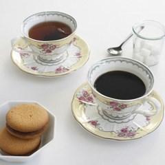 로얄로즈 옐로우 커피잔 2p set_(2169942)