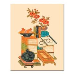 DIY 페인팅 책거리 석류병풍 PK08 (40x50)_(1575958)