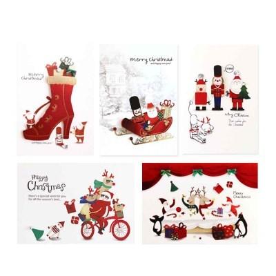 바쁘다 크리스마스카드 FS1021-13456(5종)