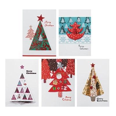 트리 크리스마스카드 FS1023-12345(5종)