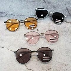 오렌지 핑크 가벼운 도수없는 데일리 패션 선글라스