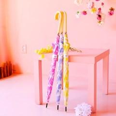 wpc우산 그라데이션 플라워 장우산 24658-01