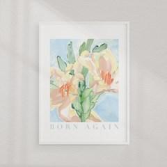 홈 인테리어 아트 부활절 메시지 포스터_Born Again
