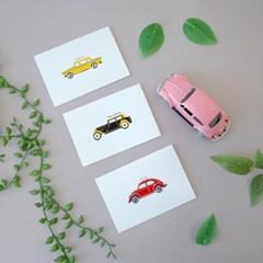 감성 일러스트 자동차카드 3종(생일, 너를위해, 감사)