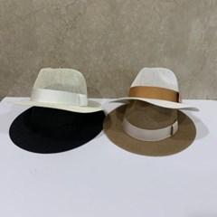 챙넓은 띠 브라운 데일리 꾸안꾸 중절모 페도라 모자