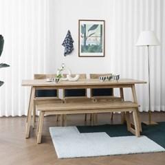 [애쉬턴내츄럴] A1형 6인용식탁/테이블 세트 1800_(1707885)