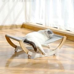 고양이 강아지 원목 해먹 흔들 침대