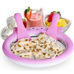 1+1 철판 아이스크림 메이커 우유아이스롤 제조기