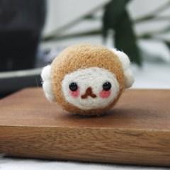 초보자 니들펠트 동물 만들기 패키지 (양) 양모_(601045)