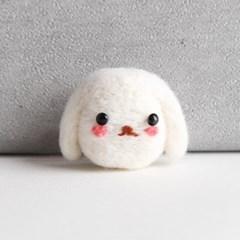 초보자 니들펠트 동물 만들기 패키지 (토끼) 양모_(601046)