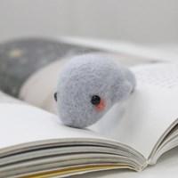 초보자 니들펠트 동물 만들기 패키지 (돌고래) 양모