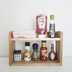베이메이트리빙 원목 양념통선반 싱크대정리 식탁선반