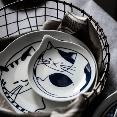 파베르 일식 도자기 그릇 앞접시 덴다시