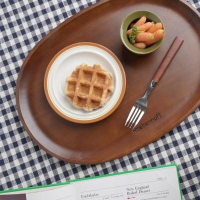 레벤호프 월넛 우드 원목 타원 카페 트레이 대_(1831760)