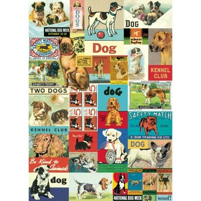 카발리니 포스터-Vintage Dog