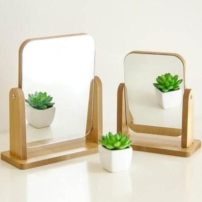 우드 화장거울 심플 탁상거울