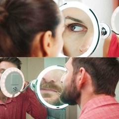 10배확대 부착식 화장실거울 화장/메이크업거울