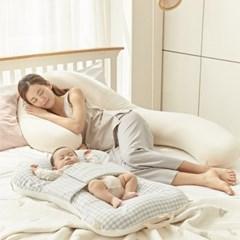 이몽 듀얼 휴대용 아기 침대 (커버분리형, 뒤집기 방지)