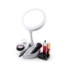 LED 접이식 수납형 메이크업 조명 거울 360도 회전
