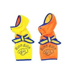 아노아노 애견타올가운 강아지수건 옐로&오렌지
